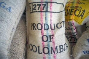 Coffee bag from Colombia